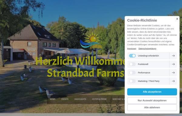 Vorschau von www.strandbad-farmsen.de, Strandbad Farmsen