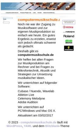 Vorschau der mobilen Webseite www.computermusikschule.de, Computermusikschule