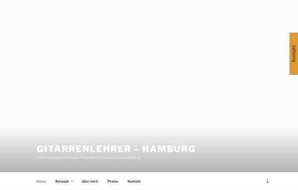 Vorschau von www.gitarrenlehrer-hamburg.de, Gitarrenlehrer Hamburg