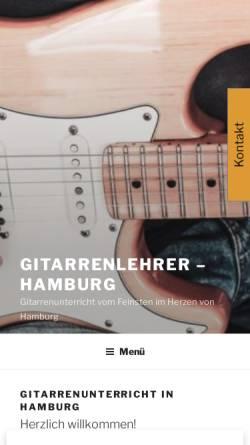 Vorschau der mobilen Webseite www.gitarrenlehrer-hamburg.de, Gitarrenlehrer Hamburg