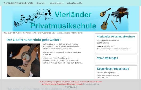 Vorschau von www.vierlaender-musikschule.de, Vierländer Privatmusikschule Zornikau