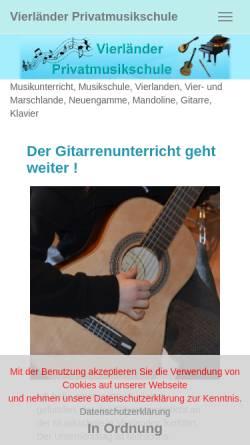 Vorschau der mobilen Webseite www.vierlaender-musikschule.de, Vierländer Privatmusikschule Zornikau