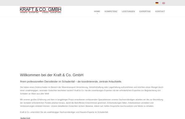 Vorschau von www.kraft-co.de, Kraft Sachverständige für Warenschäden