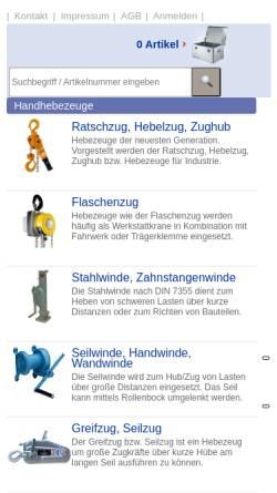 Vorschau der mobilen Webseite www.rosinski-hebezeuge.de, H.-O. Rosinski GmbH