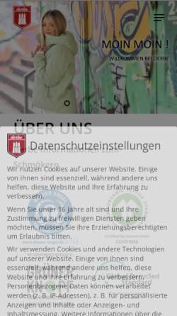 Vorschau der mobilen Webseite www.derbe-hamburg.de, Derbe Hamburg