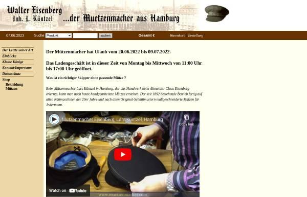 Vorschau von www.muetzenmacher.de, Mützenmacher Walther Eisenberg