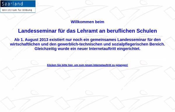 Vorschau von www.tgs-landesseminar.saarland.de, TGS-Landesseminar für das Lehramt an beruflichen Schulen
