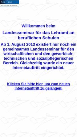 Vorschau der mobilen Webseite www.tgs-landesseminar.saarland.de, TGS-Landesseminar für das Lehramt an beruflichen Schulen