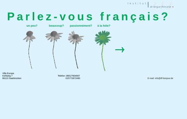 Vorschau von www.ilf-bonjour.de, ILF Institut de Langue Française Patricia Koenig