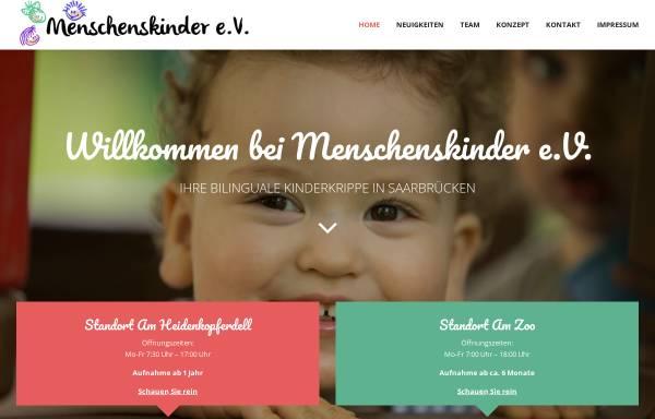Vorschau von menschenskinder-sb.de, Kinderkrippe Menschenskinder e.V.