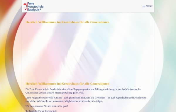 Vorschau von www.kunstschule-sls.de, Freie Kunstschule Saarlouis e.V.