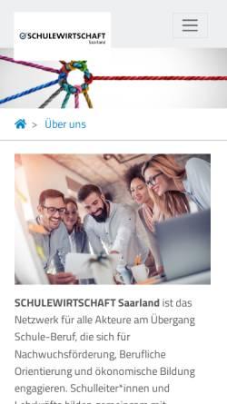 Vorschau der mobilen Webseite www.schulewirtschaftsaarland.de, Schule-Wirtschaft
