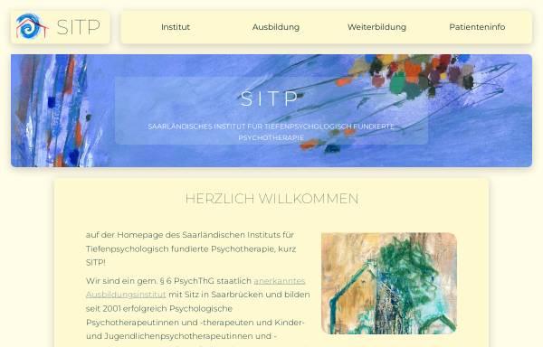 Vorschau von www.sitp.de, SITP Saarländisches Institut für tiefenpsychologisch fundierte Psychotherapie