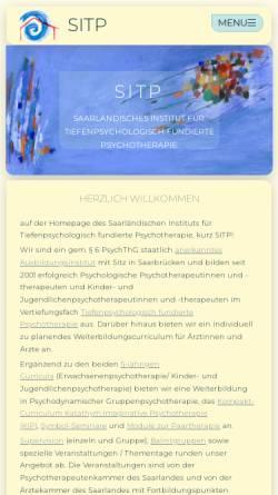 Vorschau der mobilen Webseite www.sitp.de, SITP Saarländisches Institut für tiefenpsychologisch fundierte Psychotherapie