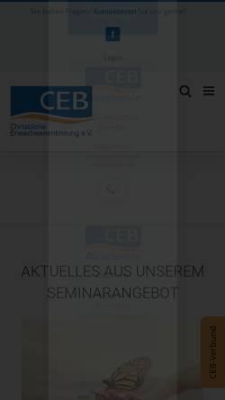 Vorschau der mobilen Webseite www.ceb-merzig.de, CEB Christliche Erwachsenenbildung Akademie