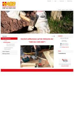 Vorschau der mobilen Webseite www.gse-saar.de, GSE Gemeinnützige Gesellschaft für Sozialeinrichtungen des ASB mbH