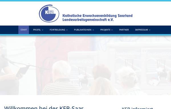 Vorschau von www.keb-saar.de, KEB Katholische Erwachsenenbildung Landesarbeitsgemeinschaft e.V.
