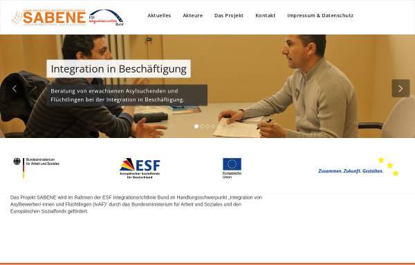 Vorschau von www.sabene.de, Sabene Saarländisches Beratungsnetzwerk Bleibeberechtigte und Flüchtlinge