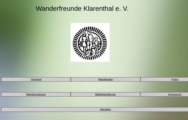 Vorschau von www.rixecker.net, Wanderfreunde Klarenthal e.V.