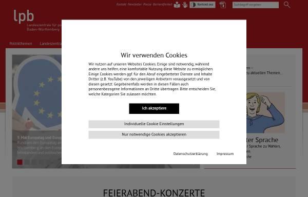 Vorschau von www.lpb-bw.de, Landeszentrale für politische Bildung