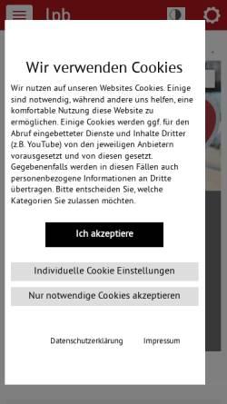Vorschau der mobilen Webseite www.lpb-bw.de, Landeszentrale für politische Bildung