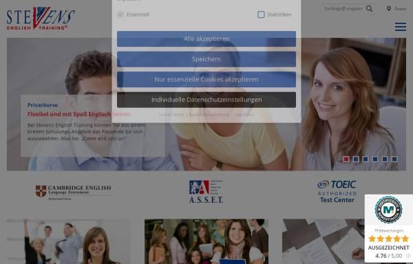 Vorschau von www.stevens-english.de, Stevens English Training