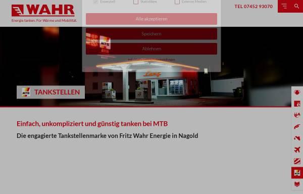 Vorschau von www.mtb-tankstellen.de, MTB-Tankstellen - Fritz Wahr Mineralöle - Spedition e.K.