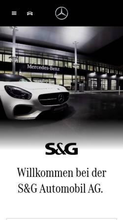 Vorschau der mobilen Webseite www.mercedes-benz-sug.de, S&G Automobil Aktiengesellschaft