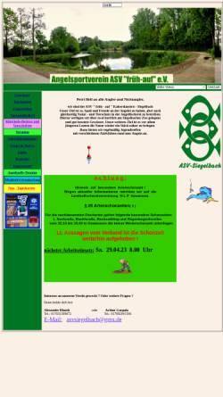 Vorschau der mobilen Webseite www.asvsiegelbach.de, Angelsportverein Kaiserslautern - Siegelbach e.V.