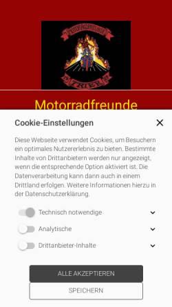Vorschau der mobilen Webseite www.motorradfreunde-trier.de, Motorradfreunde Trier