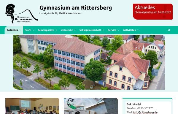 Vorschau von www.rittersberg.de, Gymnasium am Rittersberg