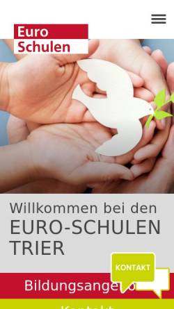 Vorschau der mobilen Webseite www.euroschulen-trier.de, Euro-Schulen Trier