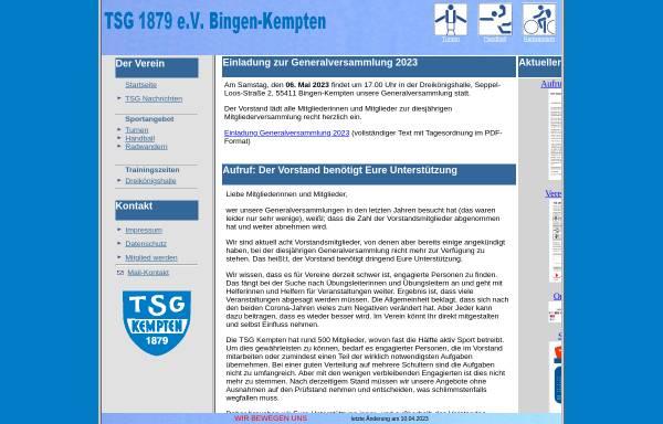 Vorschau von www.tsg-kempten.de, TSG 1879
