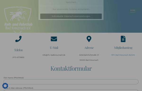 Vorschau von www.rfc-bad-kreuznach.de, Reit- und Fahrclub Bad Kreuznach e.V.