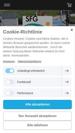 Vorschau der mobilen Webseite www.schwimmbad-gimbsheim.de, Schwimmverein Freibad Gimbsheim e.V.