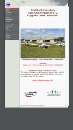 Vorschau der mobilen Webseite www.aero-club-pirmasens.de, Aero Club Pirmasens