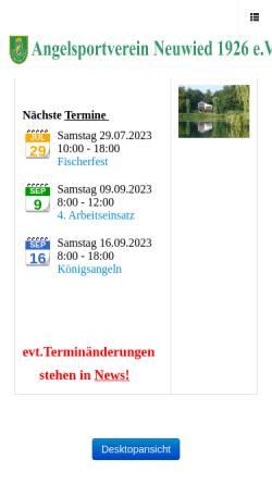 Vorschau der mobilen Webseite www.asv-neuwied.de, A.S.V. Neuwied 1926 e. V.