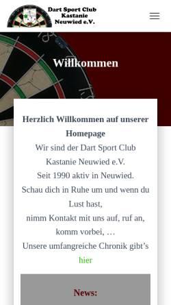Vorschau der mobilen Webseite www.dsc-kastanie.de, Dart Sport Club Kastanie Neuwied e.V.