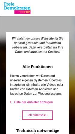 Vorschau der mobilen Webseite www.fdpmeissen.de, FDP Meißen
