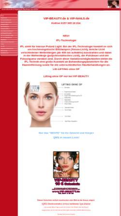 Vorschau der mobilen Webseite www.vip-beauty.de, Nagelstudio Nail Design