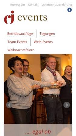 Vorschau der mobilen Webseite www.cj-events.de, CJ-Events