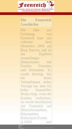 Vorschau der mobilen Webseite www.feenreich.info, Feenreich