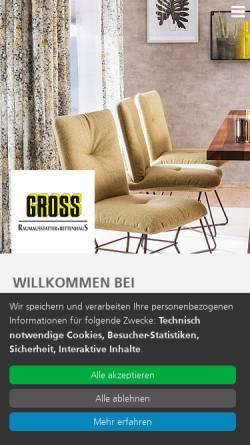 Vorschau der mobilen Webseite www.gross-raumausstatter.de, Gross Raumausstatter