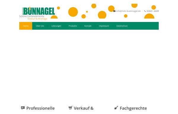 Vorschau von holz-buennagel.de, Holz im Garten - Die Brüder Bünnagel