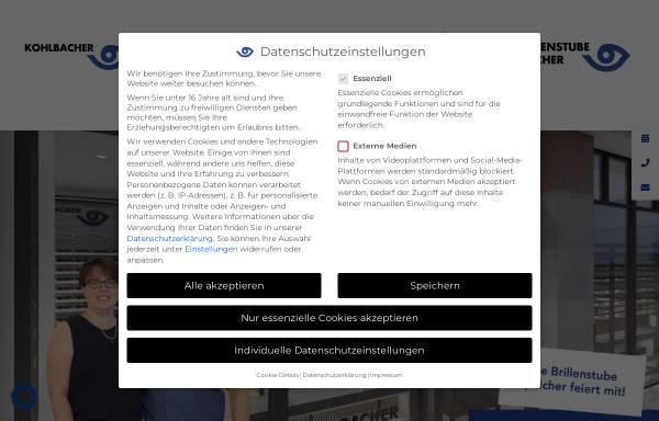 Vorschau von www.optik-kohlbacher.de, Brillen Kohlbacher GmbH