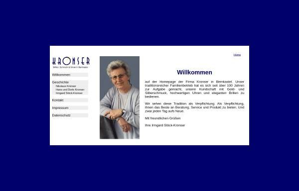 Vorschau von www.kronser.de, Kronser Schmuck und Uhren