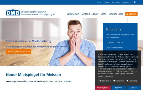 Vorschau von www.mieterverein-meissen.de, Mieterverein Meißen und Umgebung e.V.