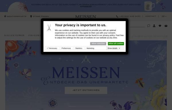 Vorschau von www.meissen.com, Staatliche Porzellan-Manufaktur Meissen