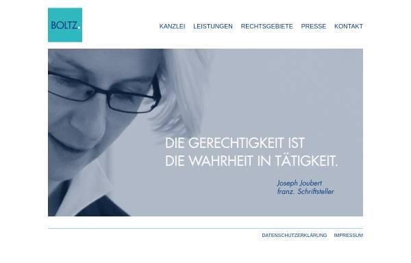 Vorschau von www.boltz.de, Bernhard Boltz - Steuerberater & Rechtsbeistand