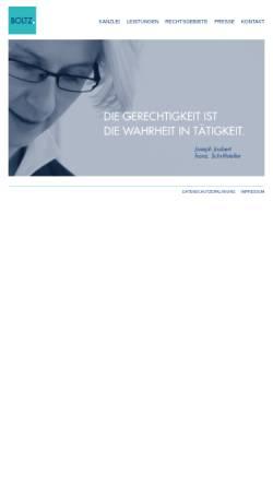 Vorschau der mobilen Webseite www.boltz.de, Bernhard Boltz - Steuerberater & Rechtsbeistand